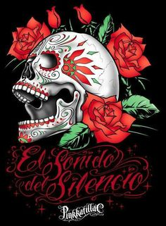 Halloween Gothic Flowers Skull Letter Tapestry Wall Hanging Tapestries Home Deco Sugar Skull Tattoos, Sugar Skull Art, Sugar Skulls, Face Tattoos, Lettrage Chicano, Day Of The Dead Artwork, Arte Lowrider, Chicanas Tattoo, Tattoos Realistic