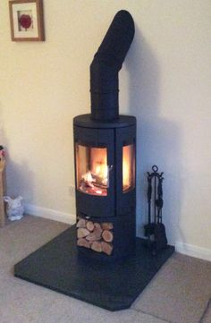 CP Wood Burning Stoves, Morso 7443 - Open Base Corner Log Burner, Small Log Burner, Wood Burning Stove Corner, Log Burning Stoves, Wood Burning Fires, Log Fires, Country House Design, Tiny House Design, Morso Wood Stove