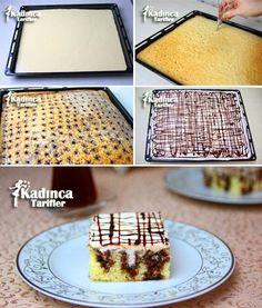 Şişleme Kek Tarifi Pasta Cake, Turkish Kitchen, Poke Cakes, Turkish Recipes, Waffles, Cake Recipes, Bakery, Tart, Sweets