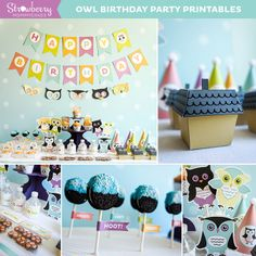 Hoot! Owl Birthday Party | CatchMyParty.com