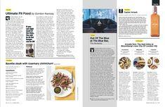 Editorial Layout, Editorial Design, Blue Bar, Grid Layouts, Gordon Ramsay, Eat Right, London City, Magazine Design, Gq