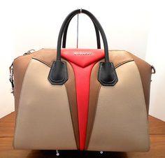 GIVENCHY Antigona Medium Triangle Panel Satchel Bag, Multi Color Handbag