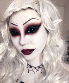 """4,176 Likes, 134 Comments - CHRISTINA (@xtianaland) on Instagram: """"This Dark Elf tutorial is on my channel (YouTube.com/suhrealmakeup)!! Link is in my bio …"""""""