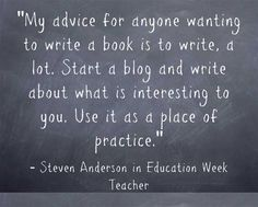 ASCD author Steven Anderson shares advice for #teachers who want to write a book and get it published.