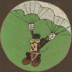 Brians WWII Surplus and Antiques Store - WWII Patch, Unknown unit - Parachute Test Co. Mickey Mouse (Powered by CubeCart) Disney Go, Disney Pins, Pin Up, Military Memorabilia, Expensive Rings, Military Photos, Mickey Mouse Birthday, Nose Art, Bomber Jackets