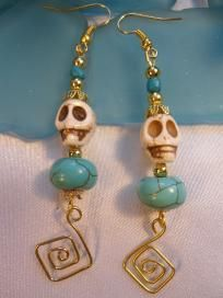 Turquoise earrings-FREE SHIPPING!!