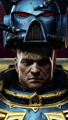 Time to suit up. Adeptus Astartes donning his badass armor.   Warhammer 40k