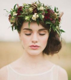 Winter princess  Skip the veil and opt for a garland of seasonal flowers - you'll look sensational.