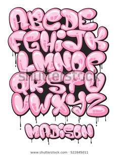 Graffiti bubble shaped alphabet set royalty-free graffiti bubble shaped alphabet set stock vector art & more images of alphabet Graffiti bubble shaped alphabet set.