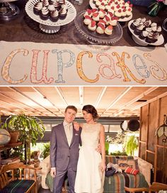 A Fun Wedding at the Smog Shoppe: Kerry + Nick Cupcake Signs, Cupcake Table, Cute Cupcakes, Wedding Cupcakes, Wedding Trends, Wedding Blog, Wedding Ideas, Event Planning, Wedding Planning