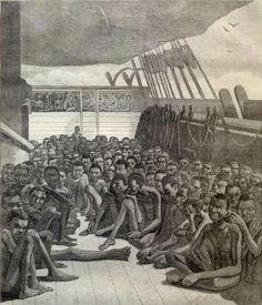 Hoe verliep de reis van slavenschepen naar Suriname? Voordat de slaven verkocht werden in Afrika werden ze volledig opgeboend: grijze haren werden geverfd, de huid werd ingesmeerd met olie om de spieren beter uit te laten komen en de tanden werden gepoetst. De verkopers hoopten hiermee een zo hoog mogelijke prijs te ontvangen. Na de verkoop kreeg slaven een brandmerk. De slaven kregen weinig ruimte, om het schip zo goed mogelijk te benutten. Mannelijke slaven werden aan boord gezet met strak…
