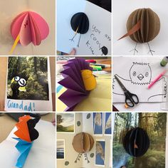 Explore and Discover Nature: Making Native Bird Pop-up Cards - an activity for ... Calendar Pictures, The Fold Line, Pop Up Cards, Origami Paper, Craft Activities, Kiwi, Nativity, Greeting Cards, Birds