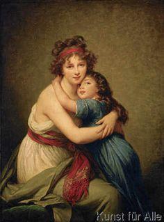 Élisabeth-Louise Vigée-Lébrun - Madame Vigée-Le Brun et sa fille