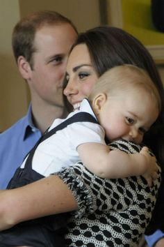 Kate Middleton and Prince George in New Zealand