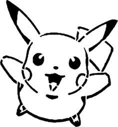 Pikachu Stencil