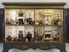 The Killer Cabinet dolls house, England Antique Dollhouse, Dollhouse Dolls, Antique Dolls, Dollhouse Miniatures, Miniature Rooms, Miniature Houses, Mini Houses, Museum Of Childhood, V & A Museum