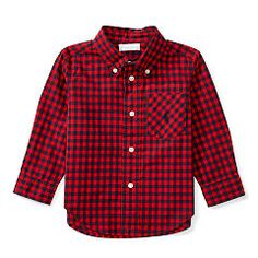 Gingham Cotton Pocket Shirt - Baby Boy Button Downs & Bow Ties - RalphLauren.com