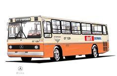 Empresa de Ônibus Santo Estevam Ltda. Mercedes Benz, Nostalgia, Gift, Cartoons, Home, Transportation