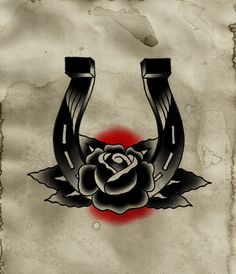 Horseshoe but with a red rose.I love it!!