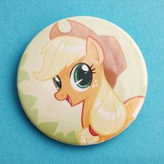 My Little Pony Applejack 225 Pinback Button by BlindLeviathan, $3.00