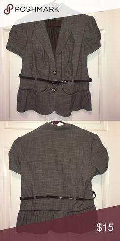 Short sleeve blazer with belt. Short sleeved blazer with belt, hits at mid drift (or slightly lower level). Iz Byer Jackets & Coats Blazers
