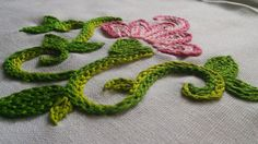 Hand Embroidery Flower | Braided Chain Stitch | HandiWorks #8 - YouTube