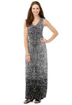 Cato Fashions Starburst Smocked Maxi Dress - Plus #CatoFashions