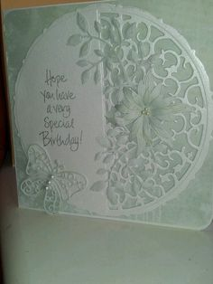 Birthday card using Tonic and Spellbinder dies