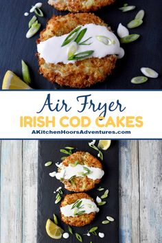 Leftover mashed potatoes and leftover cod make for simple, quick, and delicious Irish Cod Cakes. They are crispy on the outside and creamy good inside! Cube Steak Recipes, Roast Beef Recipes, Cod Recipes, Irish Recipes, Seafood Recipes, Yummy Recipes, Oven Recipes, Healthy Recipes, Cod Fish Cakes