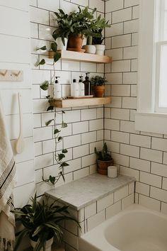 natural home decor Bathroom Renovation Reveal Carla Natalia Bathroom Interior Design, Home Interior, Interior Decorating, Decorating Ideas, Interior Modern, Interior Paint, Kitchen Interior, Bathroom Inspiration, Bathroom Ideas