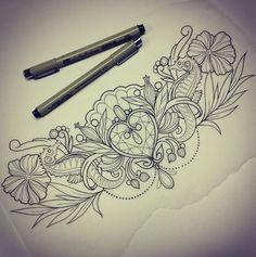 "Tramp Stamp ""jewelry"" idea...shells instead of flowers"
