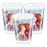 Cups: Disney Little Mermaid Cups - 200ml Plastic Party Cups (8pk)