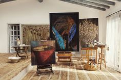 Sea of Girasoles: Interior: home of a painter
