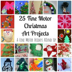 Fine Motor Christmas Art Projects [Fine Motor Fridays] - LalyMom - Part of the Fine Motor Fridays Christmas Round Up Edition! Each FMF blogger has a different Fine Motor Christmas Round Up! Over 150 activities are shared!