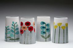 beautiful Heather Dahl vases. Will try to pick just one.