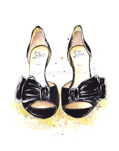 Classy & Sassy Louboutins Art Print 5x7 by claireswilson on Etsy, $15.00