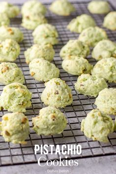 This is my delicious, melt in your mouth, moist, soft cream cheese pistachio cookies recipe for everyone to enjoy. They are my most requested cookie and so addicting! #cookies #holidaycookies #pistachio #dishesdelish Pistachio Pudding Cookies, Pistachio Dessert, Pistachio Recipes, Pistachio Cream, Hazelnut Cookies, Apple Cookies, Lemon Recipes, Baking Recipes, Cookie Recipes