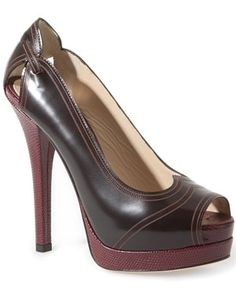 FENDI Leather Peep-Toe Pump $765.00  $499.00