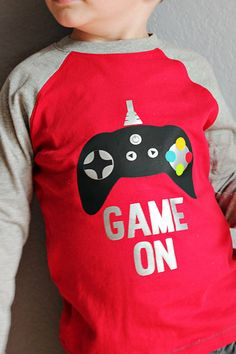 """Heat Transfer 'Game On"""" t-shirt using your Silhouette"""