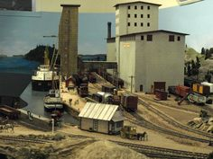 Depot Harbour, on Graham Macdonald's home layout. Photo by Greg Shinnie