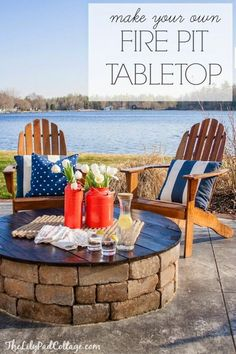 Best DIY Projects: DIY Fire Pit Table Top by The Lilypad Cottage