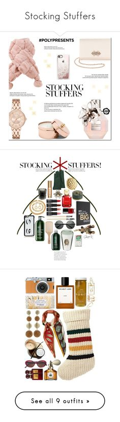 """Stocking Stuffers"" by jzanzig ❤ liked on Polyvore featuring La Regale, Viktor & Rolf, Casetify, contestentry, polyPresents, beauty, Kate Spade, Marc Jacobs, Moschino and HMY Jewelry"