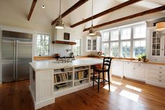 Kitchen: Island niche, love the storage