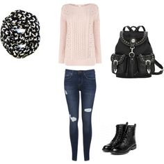 cute winter outfit for school