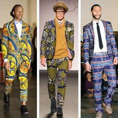 Not too sure about the combo. Maybe a suit jacket with solid color pants or vice versa.