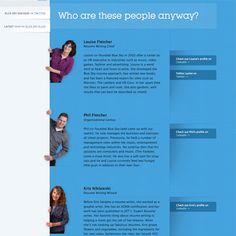 team page web design