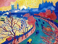 Andre Derrain, Westminster Bridge -on slika prema svojem doživljaju -nema mijenjanja intenziteta boja -bojama ostvaruje iluziju dubine/ prostora