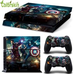 The Avengers Iron Man Captain American stickers for play station 4 vinyl sticker for ps4 console and dualshock 4  #Affiliate