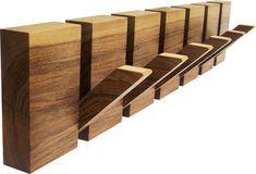 Wooden coat rack 6 hooks coat hanger wood by HechoEnCasaTaller