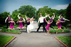 What a fun wedding party photo! Photo by Troy. #MinneapolisWeddingPhotographer #WeddingPhotography